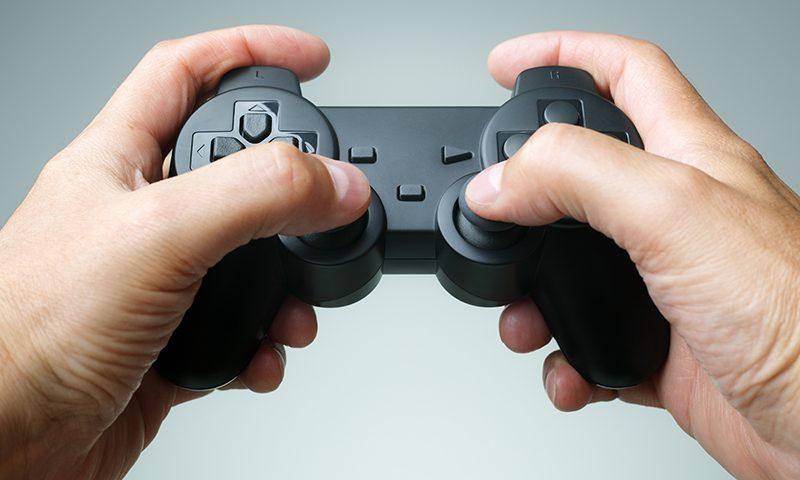 بازی های ویدئویی کنترلر کنسول در دست پرنیان
